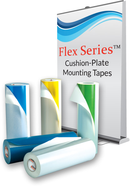 Flex Series™ Flexographic Cushion-Plate Mounting Tapes